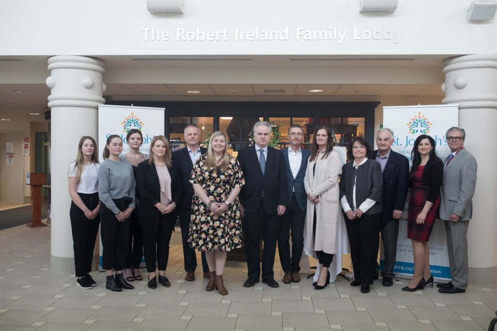 Ireland Family attending gift announcement event