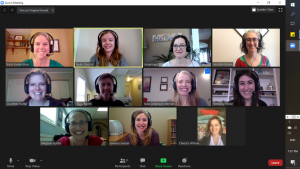 St. Joe's Speech Pathology Team on Zoom Call
