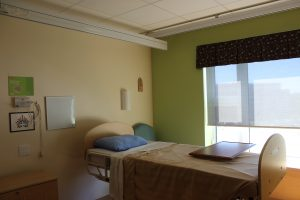 An image of an isolation room at St. Joseph's
