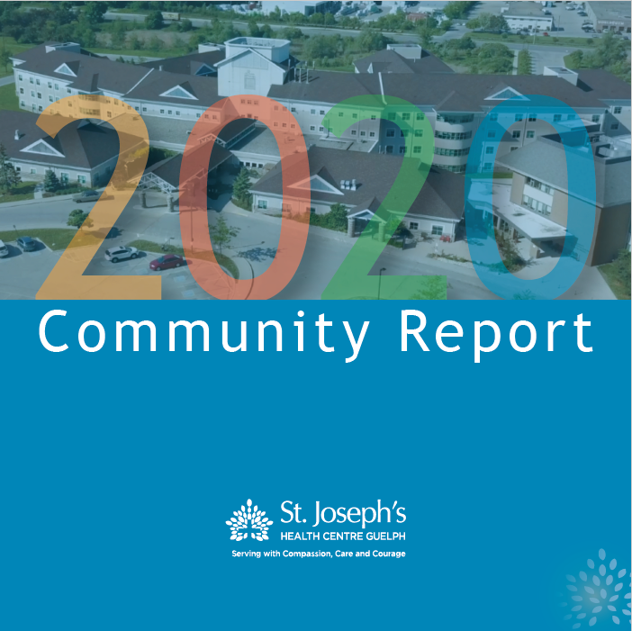 Front page of the community report document intended as a visual to click to view the report